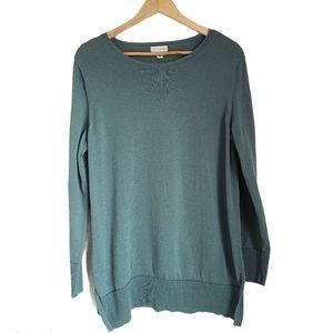 maison jules light green crewneck sweater size L